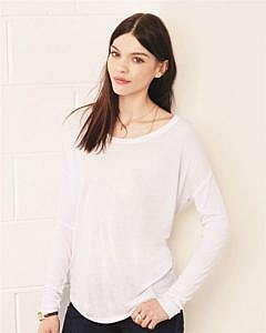 Bella + Canvas - Women's Flowy Long Sleeve Tee with 2x1 Sleeves - 8852