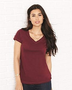 Bella + Canvas - Women's Short Sleeve Jersey V-Neck Tee - 6005