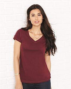 Bella + Canvas - Women's Short Sleeve Jersey V-Neck Tee - 6005