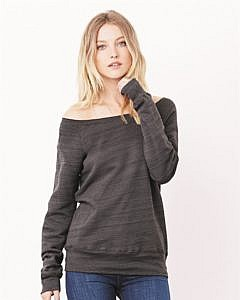 Bella + Canvas Women's Sponge Fleece Wide Neck Sweatshirt