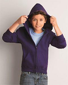 Gildan - Mid Weight Blend Youth Full-Zip Hooded Sweatshirt