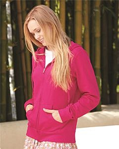 Independent Trading Co. Juniors' Lightweight Full-Zip Hooded Sweatshirt
