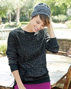 J. America - Women's Glitter Crewneck Sweatshirt - 8867