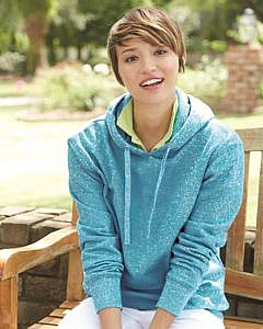 J. America - Women's Glitter French Terry Hooded Pullover - 8860