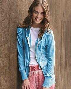 J. America Women's Zen Fleece Full-Zip Hooded Sweatshirt