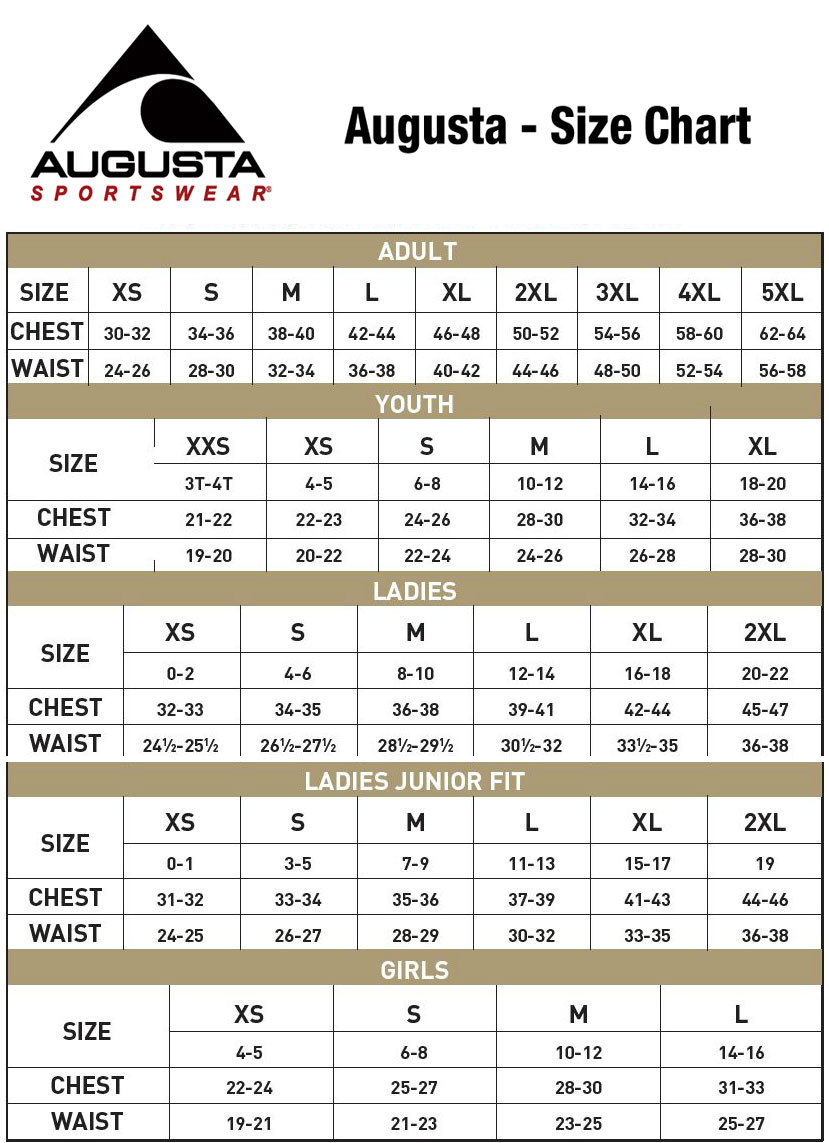 Augusta Size Chart