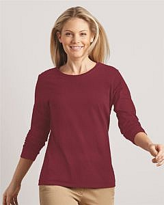 Gildan Cotton Women's Long Sleeve T-Shirt