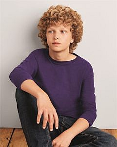 Gildan Mid-Weight Cotton Youth Long Sleeve T-Shirt