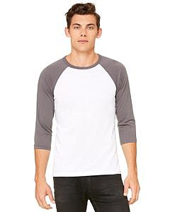 Bella + Canvas Unisex Three-Quarter Sleeve Baseball Shirt