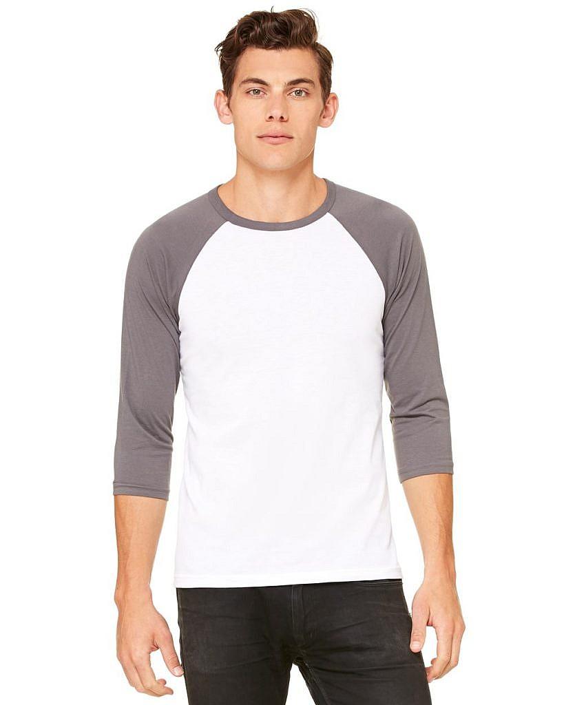 Bella + Canvas Unisex Three-Quarter Sleeve Baseball Shirt